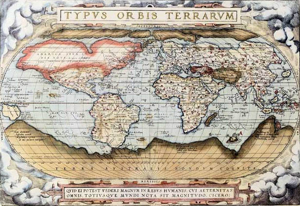 Slideshow how the world map has changed social science explorer the belgian abraham ortelius created this map in 1570 as a part of the first known a 1709 world gumiabroncs Images