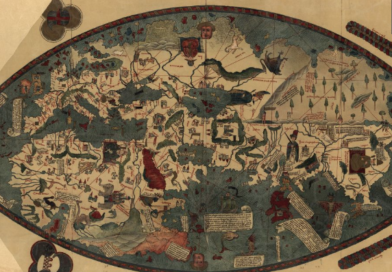 "The tales of Venetian merchant Niccolo da Conti greatly contributed to the making of the ""Genoese map"" in 1457. Image: Library of Congress, Geography and Map Division."