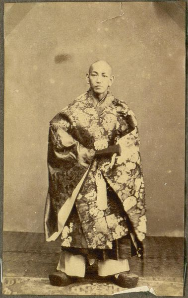 A man from Nagasaki, Japan in 1868. Image: G. Olrik, National Museum of Denmark.