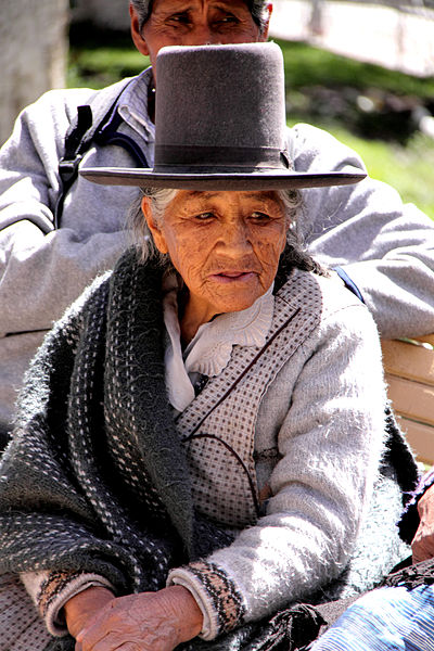 A woman in Potosí, Bolivia. Image: Yves Picq.
