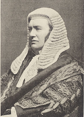 An English judge wearing court attire in 1893. Image: Alexander Bassano.