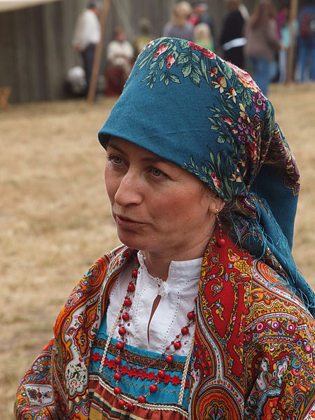 Traditional Russian outfit. Image: Franco Folini.