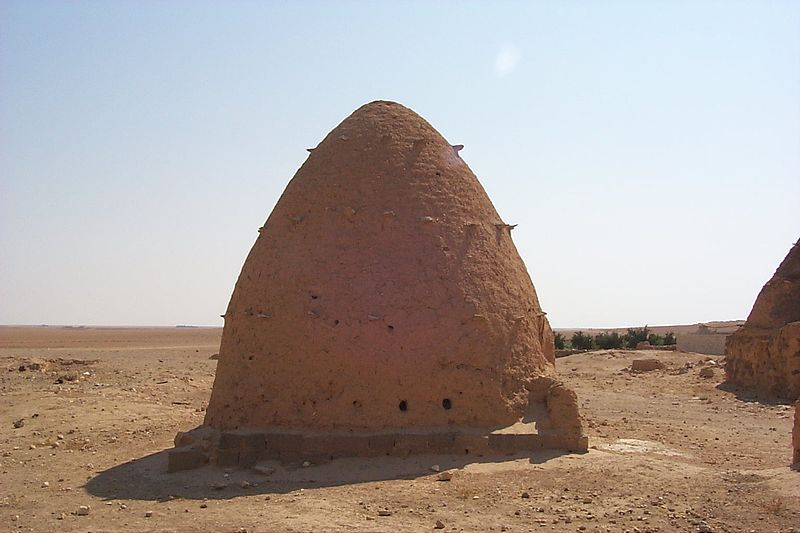 Adobe beehive architecture in Syria. Image: James Gordon.
