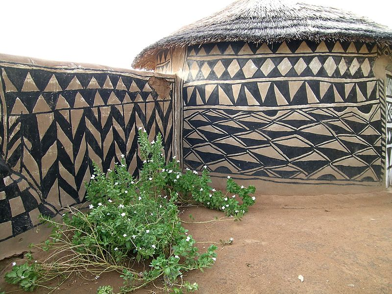 Tiebele home decoration from Burkina Faso. Image: c.hug.