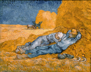 """Noon: Rest from Work (After Millet)"" by Vincent van Gogh."