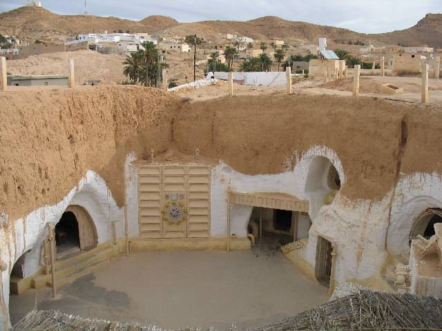 The Hotel Sidi Driss, a Berber-style underground building that was also a set for Star Wars: A New Hope. Image: Andy Carvin.