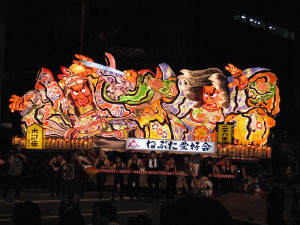 A lantern float at the Aomori Nebuta festival. Image: Fisherman.