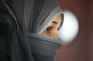 A Turkish woman wearing the niqab. Image: Steve Evans.